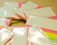 活版印刷ミニ一筆箋とミニ封筒