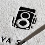 名刺の両面印刷を羊毛紙で活版印刷