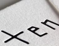 クレーンレトラと活版印刷名刺