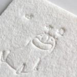 羊毛紙に空押し(blind letterpress)