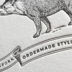 活版印刷名刺でイラスト表現