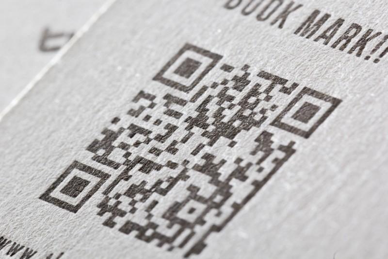 活版印刷でのQRコード
