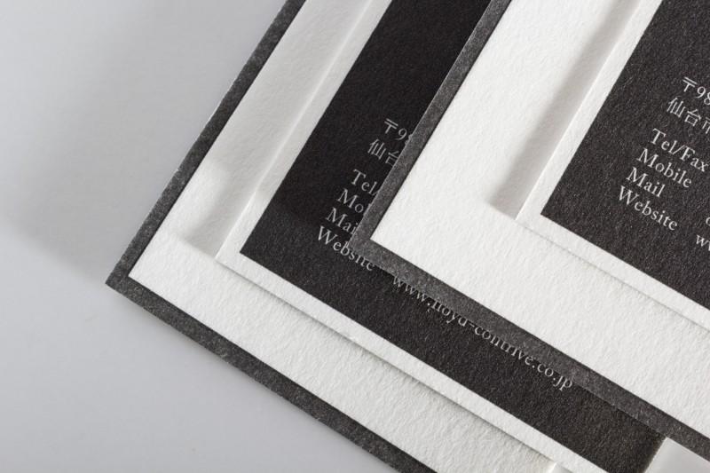 白黒_活版印刷名刺