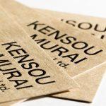 モダンクラフトを使った活版印刷の名刺