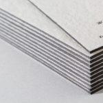 ワイルド-FS(輸入紙 竹尾)の活版印刷名刺