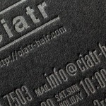 正方形の名刺(55x55mm)|活版印刷ショップカード