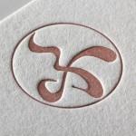 画家さま、お名刺とシールを活版印刷で作成