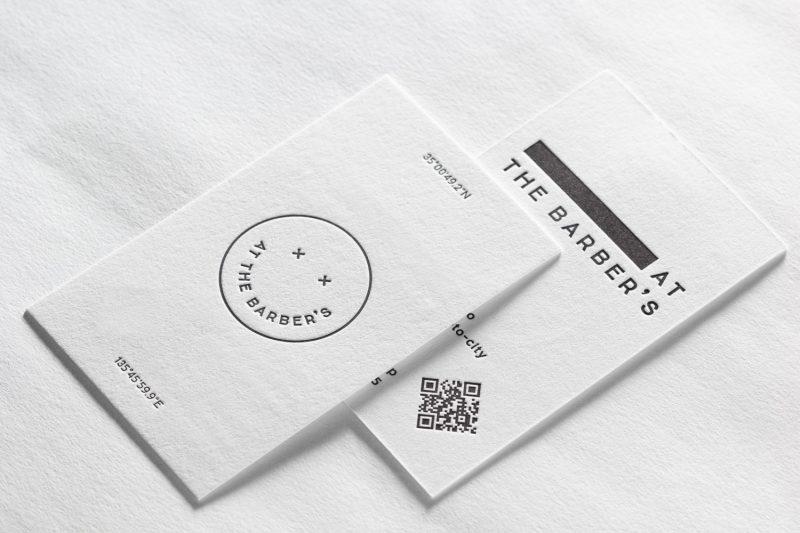 京都_活版印刷_理容室カード