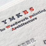 特色3色活版印刷名刺