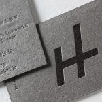 名刺用紙グレー(GAファイルグレー)の活版印刷名刺