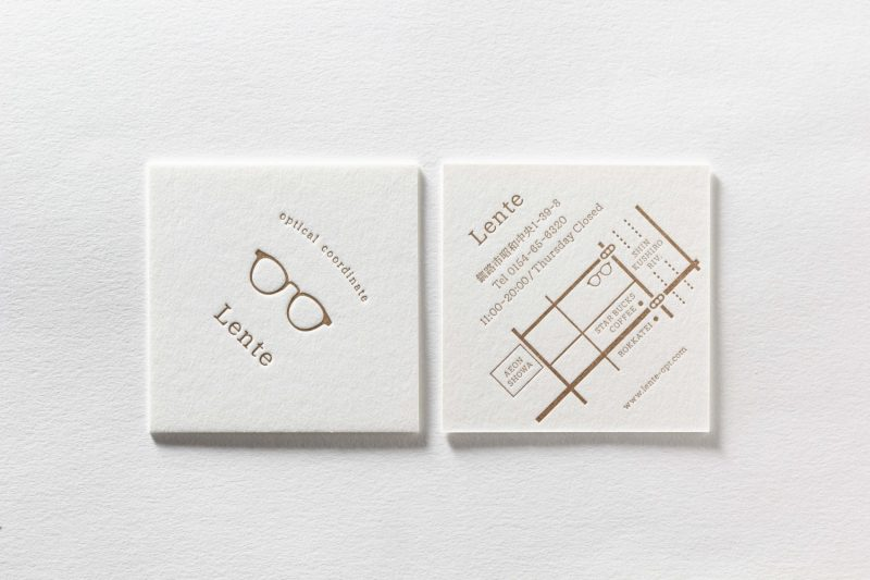 正方形の名刺_活版印刷