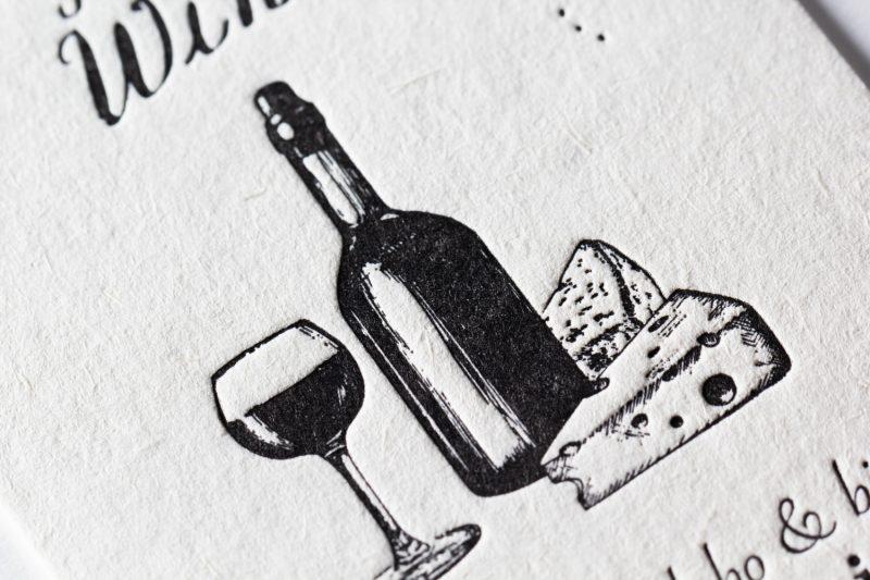 ワイン輸入_ショップカード活版印刷