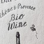 ワイン輸入販売するお店のショップカード|活版印刷