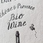 ワイン輸入販売するお店のショップカード 活版印刷
