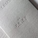 GAボードグレーX活版印刷白インキ