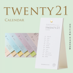 活版印刷卓上カレンダー2021