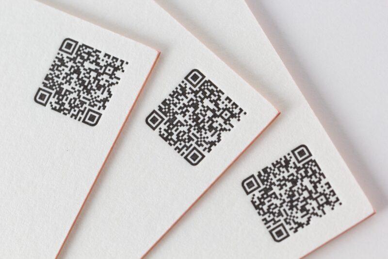 活版印刷のQRコード
