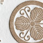 家紋入り活版名刺