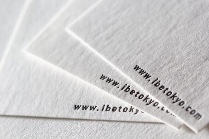 活版印刷名刺_気包紙