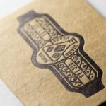 クラフト紙(モダンクラフト)|活版印刷ショップカード