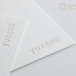 両面活版印刷で特色指定のある名刺|奈良