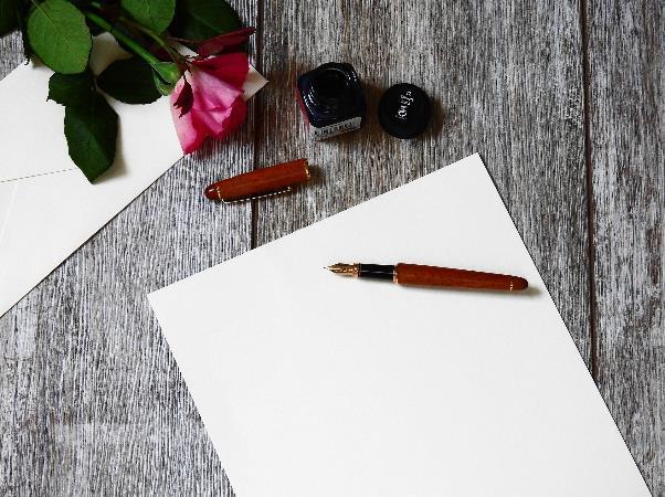 万年筆とインクと便箋