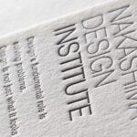 クッション紙(特Aクッション0.8)両面活版名刺